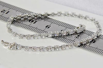 Beautiful Sterling Silver (925) 2.40ct Ladies Tennis Bracelet
