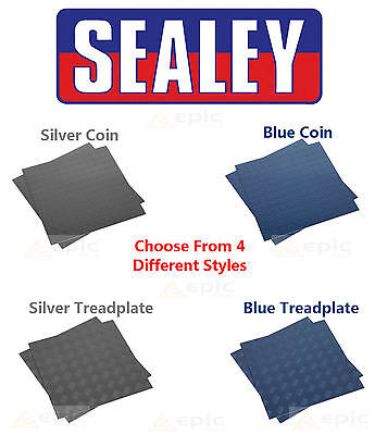 SEALEY 16x Heavy Duty Vinyl Garage,Shed,Workshop Flooring Floor Tiles Mats 45cm