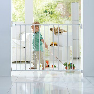 NEW Lindam Push to Shut Easy Close Extending Metal Safety Gate - White
