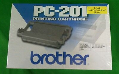 Brother PC-201 Fax Machine Printing Cartridge 2-Pack in Black