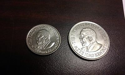 1975 Kenya 1 Shilling and 1973 Kenya 50 Cents