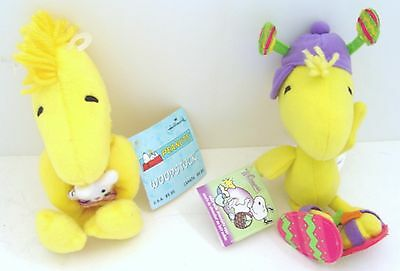 "2 Peanuts Snoopy WOODSTOCK EASTER PLUSH DOLLS - 7"" HALLMARK & WHITMAN'S REDUCED!"