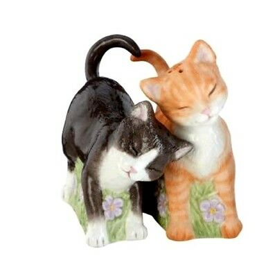 "Lenox Cat Salt & Pepper Shakers Set ""Seasoned with Love"" NEW IN BOX"