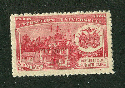 Vintage Poster Stamp PARIS EXPOSITION 1900 Worlds Fair SUDAFRICAINE SOUTH AFRICA