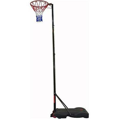 New Home Garden Full Size Pro Netball Post Pole With Hoop Net Set