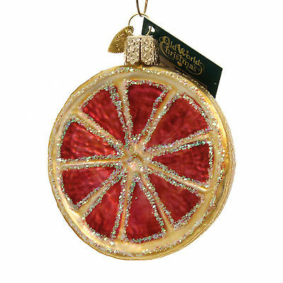 Old World Christmas GRAPEFRUIT Glass Ornament Fruit Vegetable 28117