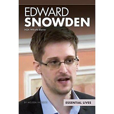 Edward Snowden: Nsa Whistle-Blower (Essential Lives) - Library Binding NEW Melis
