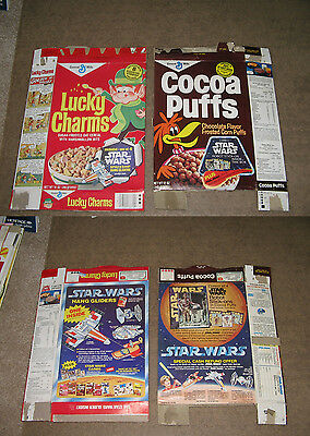 cereal box COCOA PUFFS Star Wars 1978 space (1 item) rocket trading card sticker