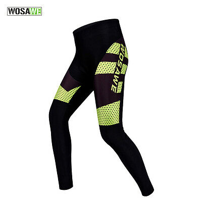 Men Cycling Trousers GEL Padded Long Pants Bike Bicycle Casual Tights Summer HOT