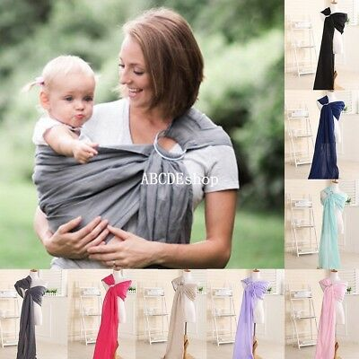 Newborn Baby Toddler Cradle Pouch Ring Sling Carrier Wrap for 0-24 Months New