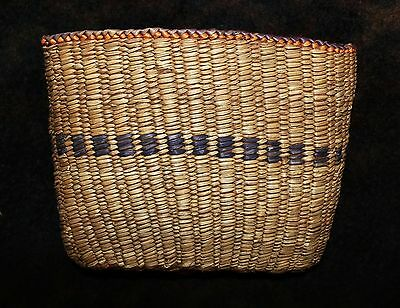 "Ethnographic Nootka or Other NW Coast Tribe ""Feather"" Storage Basket 4.5""hx6.25w"