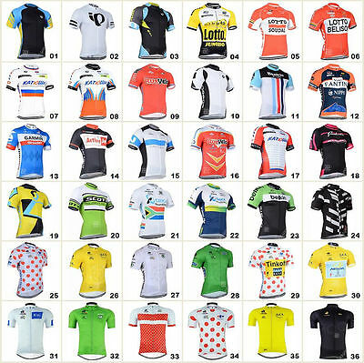 2017 Bicycle Team Road Bike Clothing HOT Jerseys Short Sleeve Tops Riding Shirt