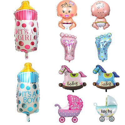 5Pc Funny Foil Balloon Christening Birthday Party Decor Boy Girl Baby Shower Toy