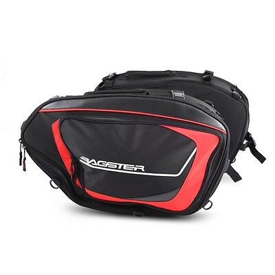 Saddle Bags Ducati Monster 696/796/797/821 Bagster Cruise 5813D 25-39 l red