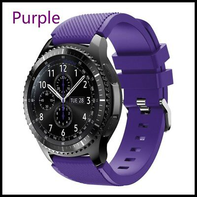 Purple Silicone Strap Wrist Band For Samsung Gear S3 Frontier Classic Watch