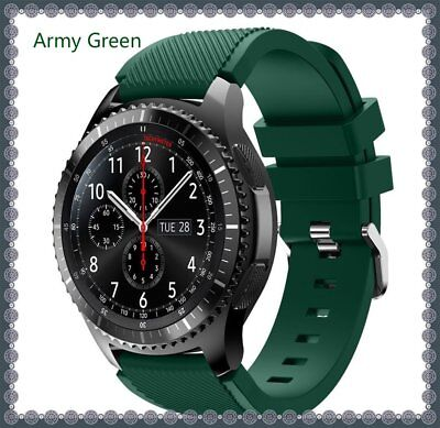 Army Green Silicone Strap Wrist Band For Samsung Gear S3 Frontier Classic Watch