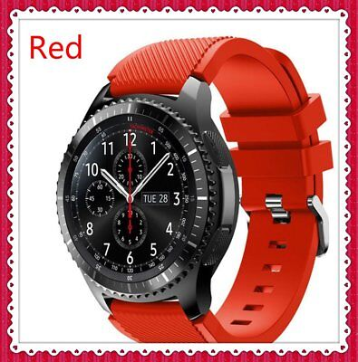 Red Sport Silicone Strap Wrist Band For Samsung Gear S3 Frontier Classic Watch