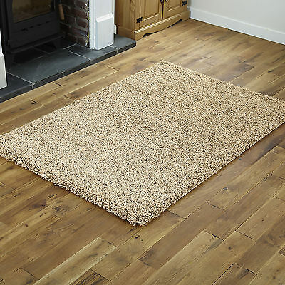 Modern Small Large 5cm Thick - Quality Light Beige Shaggy Rugs Runner Round