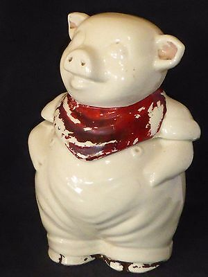 Charming Vintage Early Shawnee Pottery Smiley the Pig Cookie Jar, c1942