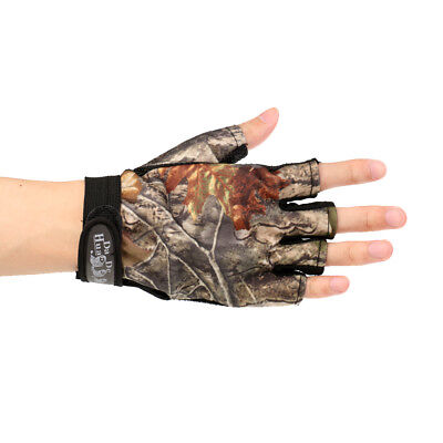 New Camo Fishing Gloves Shooting Hunting Folding Fingers Fingerless Gloves