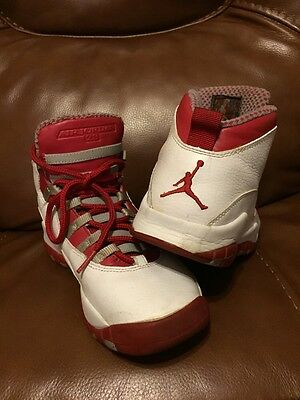 Nike Air Jordan Retro Red White Collection 050608 5.5 Y Youth Kids Boys Shoes