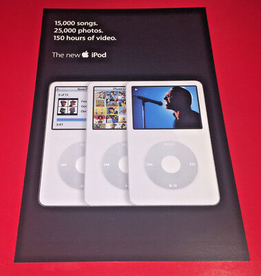 A PAIR of Apple advertising postcards for the iPod Photo