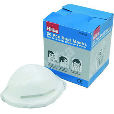 NEW 50 Dust masks -  Box of 50 Safety Face Masks - 50 Disposable Respirators
