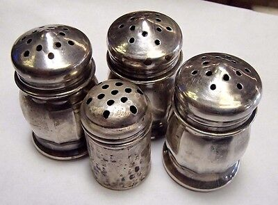 Accumulation of 4 Sterling Silver Salt and Pepper Shakers - 22.1 grams