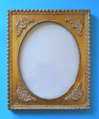 vtg 8 x 10 Gold gilt wood & gesso Picture~Photo FRAME oval framing-Wall Art