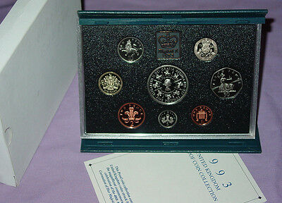1993 ROYAL MINT PROOF SET COINS - Includes £5 Coronation Anniversary Crown
