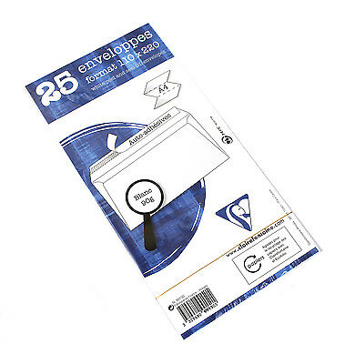 """Pack/25 Clairefontaine """"Triomphe"""" Envelopes for A4 Sheets, 4.38"""" x 8.63"""""""