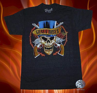 7726ae5c5fa7 New Guns N Roses Men's Slash Top Hat GNR Vintage Classic Black T-Shirt