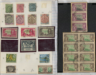Rhodesia , Southern Rhodesia Mint / Used , Blocks 2 Pages CV $63+