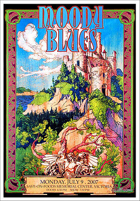 Moody Blues Poster Victoria BC 2007 Gorgeous Orig Hand-Signed Litho by Bob Masse