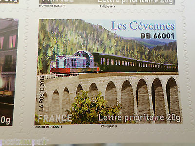 FRANCE 2014, timbre AUTOADHESIF TRAIN LOCOMOTIVE BB 66001, neuf**, VF MNH STAMP