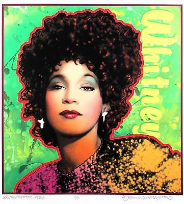 Whitney Houston Poster Gorgeous Artist's Edition Portrait Hand-Signed David Byrd