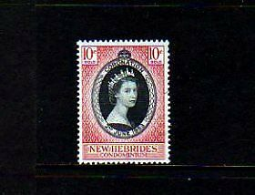 New Hebrides - 1953 - Qe Ii - Coronation Issue - Mint - Mnh - Single!