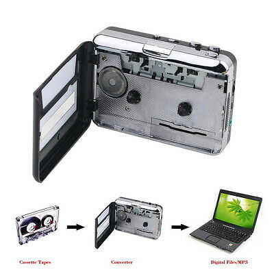 NEW USB AUDIO CASSETTE TAPE CONVERTER TO iPOD CD MP3 WALKMAN PORTABLE PLAYER HT