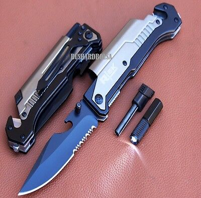 TACTICAL MULTI-FUNCTIONAL Spring Assisted Outdoor Rescue P/Knife - 017576GR