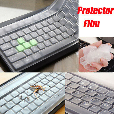 Universal Silicone Desktop Computer Keyboard Cover Skin Protector Film 44.5 * 14