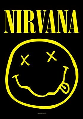 """Nirvana Smiley Face Fabric Poster 30"""" X 40"""" !"""