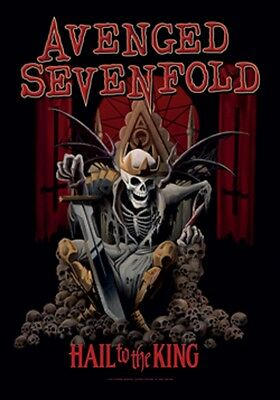 "Avenged Sevenfold Hail To The King Fabric Poster 30"" X 40"" !"