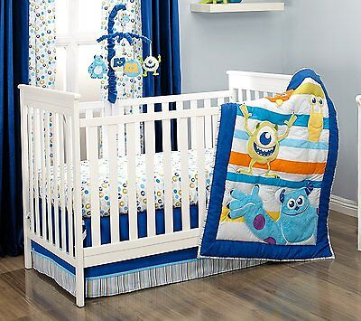 Disney Baby Monsters, Inc Monsters at Play 4 pc Crib Bedding Set