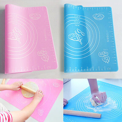 Pastry Silicone Baking Cake Dough Fondant Rolling Kneading Mat with Measures