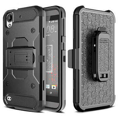 For HTC Desire 530 Shockproof Defender Armor Holster Belt Clip Stand Case Cover