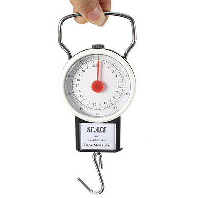 Portable Luggage Scale 22kg 50lb Spring Travel Bag Weight Hanging Scales x1New