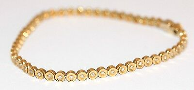 9ct Yellow Gold Bracelet Set With 53 Individually Set Diamonds (7.5inches)