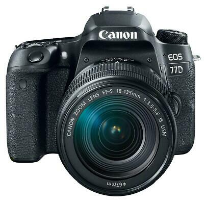 Canon EOS 77D DSLR with EF-S 18-135mm F3.5-5.6 IS USM Lens #1892C002