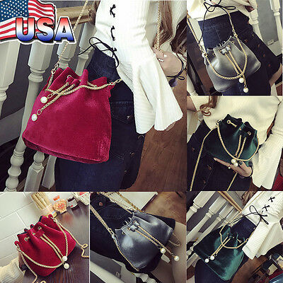 cbcd1539ec87 Women s Fashion Handbag Drawstring Shoulder Bag Tote Purse Crossbody Bucket  Bags