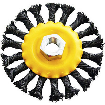 100mm - 4 inch - WIRE WHEEL Clean Welds Remove Rust ANGLE GRINDER BRUSH - NEW
